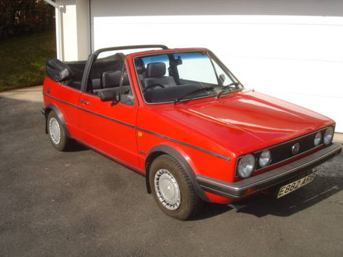 1986 Volkswagen Golf Cabriolet Convertible 2-door